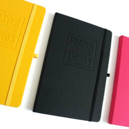 Yellow, Black and Pink Prayer Changes Things Journals