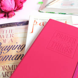 Pink Prayer Changes Things Journal with Bible and prayer book