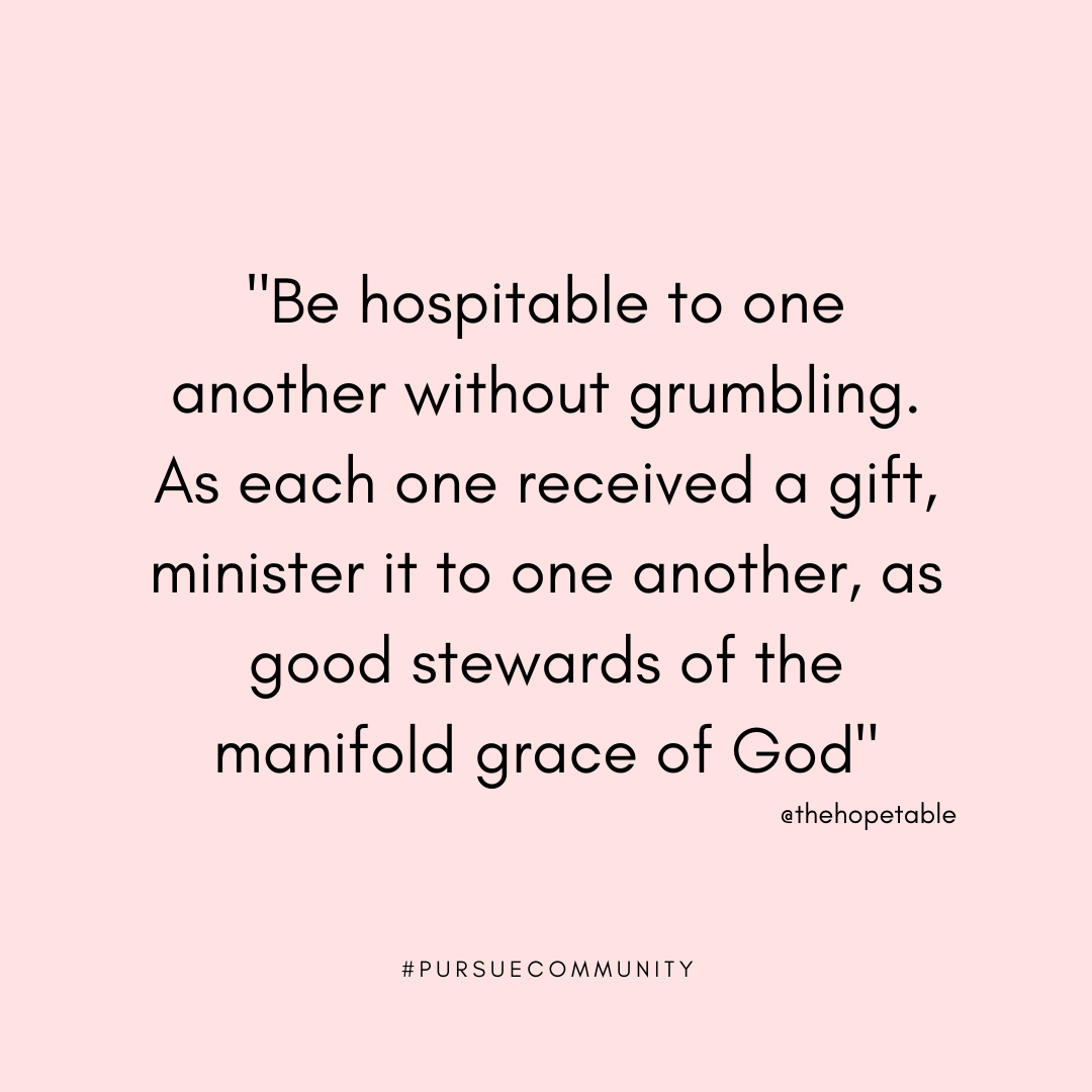Scriptures and simple ideas for biblical hospitality