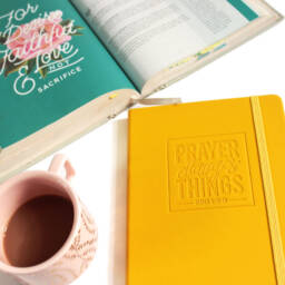Prayer Changes Things Yellow Journal with Bible - 2